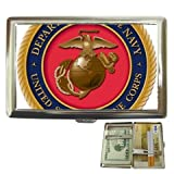 united states marine corps 2 cigarette case money case holder