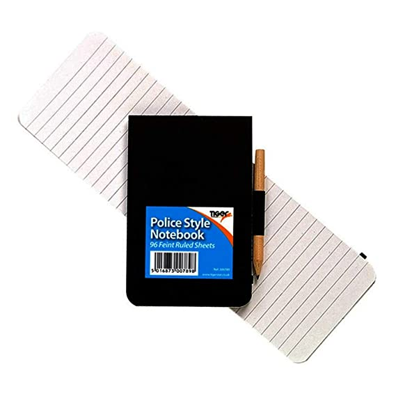 notebook Tiger police style pocket notebook with pen and calculator