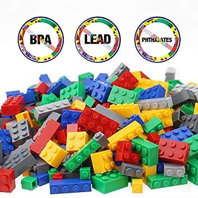Litian Building Blocks 1000 Pieces Set, Building Bricks Creative DIY Interlocking Toy Set Random Colors Mixed Shape ABS Puzzle Construction Toys Set for Kids Age6+ (1000PCS): Toys & Games