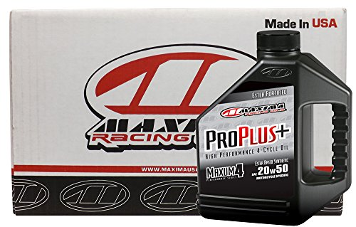 (Maxima Racing Oils CS30-039128-4PK-4PK 20W-50 Pro Plus+ Synthetic Motorcycle Engine Oil - 4 gal, (Pack of 4))