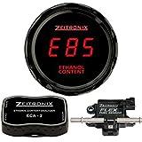 Zeitronix ECA-2 Ethanol E% Content Analyzer Kit with Red Display Gauge