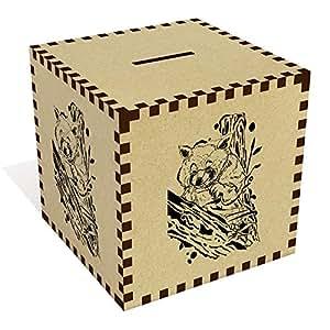 Azeeda Grande 'Panda Rojo' Caja de Dinero / Hucha (MB00060212)