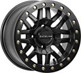 Raceline A91B-47056-52 Ryno Beadlock Front/Rear Wheel - 14x7 - 5+2 Offset - 4/156 - Black (14x7)