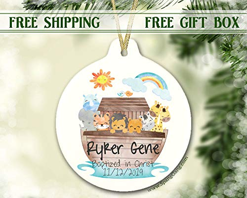 Baptism Gift Ornament, Christmas Gift for Baby, Personalized Christmas Ornament