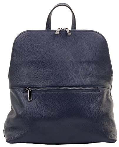 Top Handle Branded Includes Rucksack Shoulder Navy Bag Italian Backpack Primo Textured Leather Storage Bag Protective Sacchi AIxXxwqC