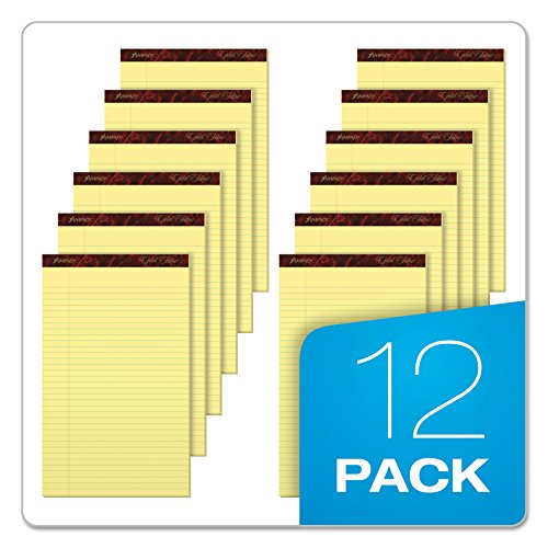 Ampad Gold Fibre Writing Pads, 8-1/2'' x 14'', Legal Rule, Canary Paper, 50 Sheets, 12 Pack (20-030R) by Esselte (Image #5)