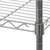 Plata Seville Classics SHE14305ZB estanter/ía con 5 Suelos 76,2 x 35,6 x 152,4 cm Metal galvanizado