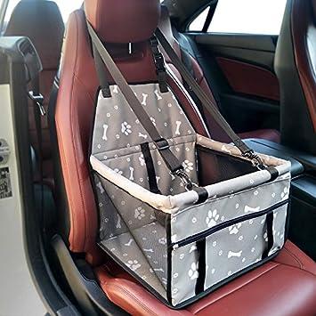 GENORTH/® Tragbare Tragetasche Haustier Tasche Hundetragetasche Katzen Tasche Sitzerh/öhung Mesh Einseitig Deluxe Faltbare Autos Reisetasche f/ür Haustiere R/ücksitz