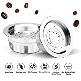 Stainless Steel Reusable Coffee Capsules Refillable Coffee Capsule Cup Pods Holder Filter Set Coffee Capsules Pods Compatible with Lavazza A Modo Mio Jolie Lavazza A Modo Mio Espria
