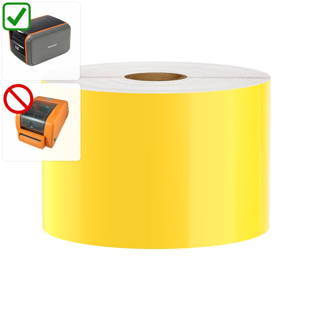 DuraLabel Toro / Bronco (2011-2015 MODELS ONLY) Compatible Premium Vinyl Tape, Yellow, 3'' x 150'