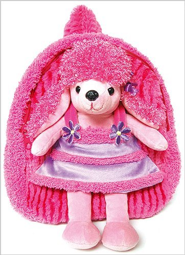 Best Buddy Poodle (Pecoware Poodle in Dress Best Buddy Backpack with Removable Plush)