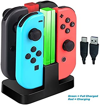 Base de Carga 4 en 1 Cargador para Nintendo Switch Joy-Con ...