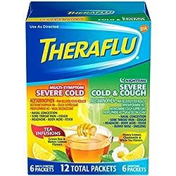 Theraflu Multi-Symptom Severe Cold & Cough Combo Packets with Lipton Flavors 12 ea