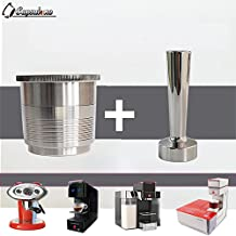 CAPSULONE stainless steel refillable metal capsule and tamper compatible with illy coffee caspule machine maker use 10 years