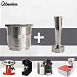 x7 coffee machine - CAPSULONE stainless steel refillable metal capsule and tamper compatible with illy coffee caspule machine maker use 10 years