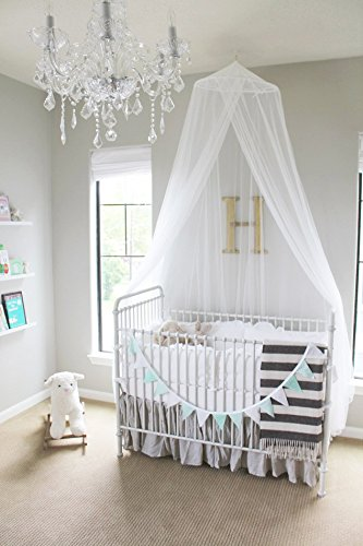 Pique Crib Bedding Set (Mosquito Guard Baby Crib Netting - (FREE Stroller Netting Included) Compatible with Baby/ Toddler Cribs, Beds, Bassinets, Playpens, Cradles ( WHITE ))