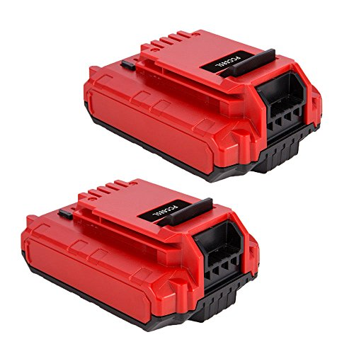 Masione 2 Pack 20-volt PCC680L Lithium Battery for Porter Cable PCC685L PCC682L PCC600 PCC640 Cordless Tools 20-volt MAX Lithium Ion 2.0-Amp Hour Pack Battery