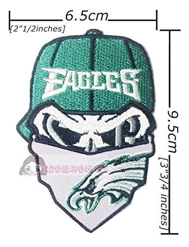 - Philadelphia Eagles Skull NFL Football Logo Embroidery Iron Sew Patch On Fabric