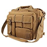 GES Multifunction Mens Outdoor Tactical Nylon Shoulder Laptop Messenger Bag Briefcase Handbags Large Enough for 15.6'' Laptop/Camera/iPad (Khaki)