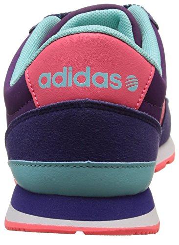 adidas V JOG K - Zapatillas para niño Morado / Rosa / Azul