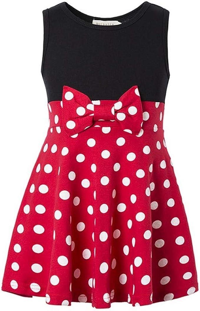 Amazon.com: Disfraz de Minnie Princesa para niña con lunares ...
