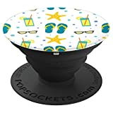 Beach Print, Summer Essentials, Starfish, Wallpaper - PopSockets Grip and Stand for Phones and Tablets