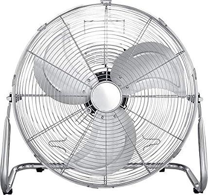 Ventilador de suelo silencioso, ventilador de mesa (3 aspas de aluminio, 45 cm, ventilador, motor silencioso, cromado): Amazon.es: Hogar