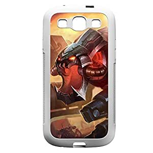 ChoGath-004 League of Legends LoL case cover for Samsung Galaxy S3, I9003 - Rubber White