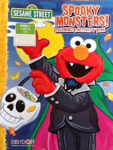 Sesame Street Halloween Spooky Monsters Coloring & Activity Book
