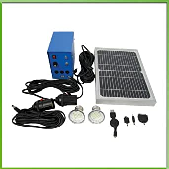 solar led lighting system 2 x 40w comparable led lights 5w solar panel 5ah. Black Bedroom Furniture Sets. Home Design Ideas
