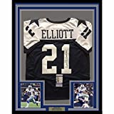 Framed Autographed/Signed Ezekiel Elliott 33x42 Dallas Cowboys Thanksgiving Day Football Jersey JSA COA
