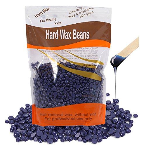 Hard Wax Beans, 300g/Bag Beauty Salon Depilatory Dedicated Hard Wax Bean Waxing Hair Removal (Lavender)