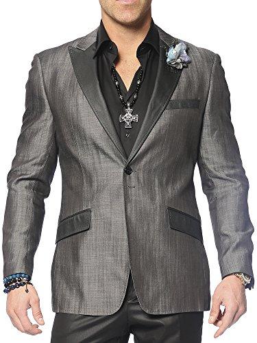 ANGELINO Men's Sports Blazer Santo Black 42R - Exclusive Single Breasted Jacket
