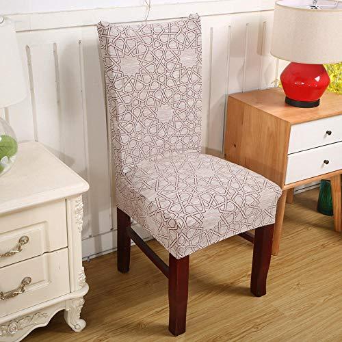 Cxypeng Juego de Fundas para sillas, Funda de Silla Universal elastica Antideslizante, cojin de Silla de Oficina de Medio Paquete, Piezas H_2, Cubierta de Silla de Comedor con Respaldo Alto