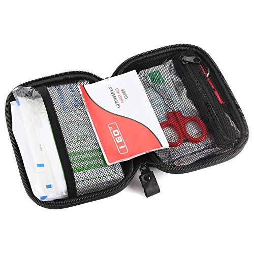 I Go Compact First Aid Kit Hard Shell Case for Hiking, Camping, Travel, Car 85 Pieces