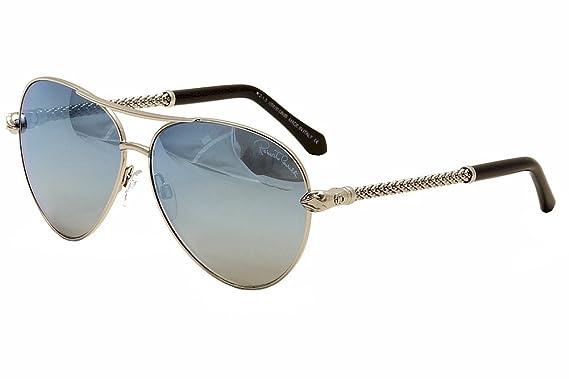 e52dc4a3a6f94 New Roberto Cavalli Sunglasses Aviator Women RC 976S Silver 16X Syrna 61mm