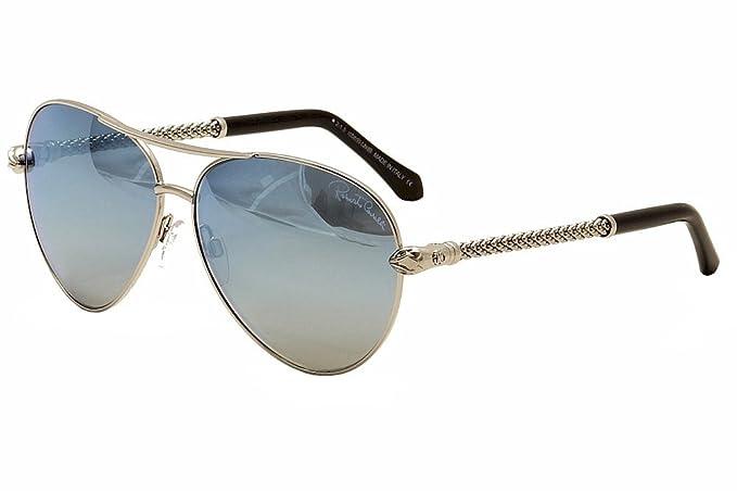 0d72c9dfd New Roberto Cavalli Sunglasses Aviator Women RC 976S Silver 16X Syrna 61mm  at Amazon Men's Clothing store: