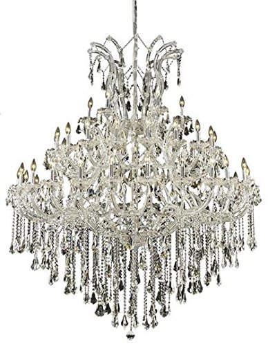 Karla Chrome Traditional 49-Light Grand Chandelier Heirloom Handcut Crystal in Crystal (Clear)-2381G60C-RC--36