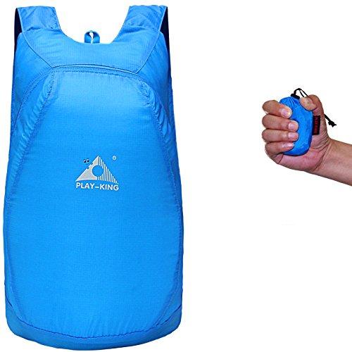 Travelling Handy Waterproof Daypack 20L Women for Ultralight Blue Hiking Rucksack Outdoor Camping Foldable Men Backpack wqZxgU