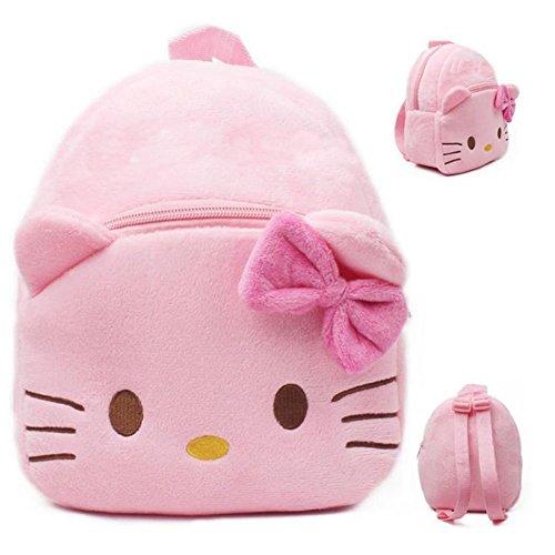 0e7556218 Baby Girl dibujos animados felpa bolsa de preescolar Lovely Pequeño  Mochilas Toys Hello Kitty para 1 – 2 Años