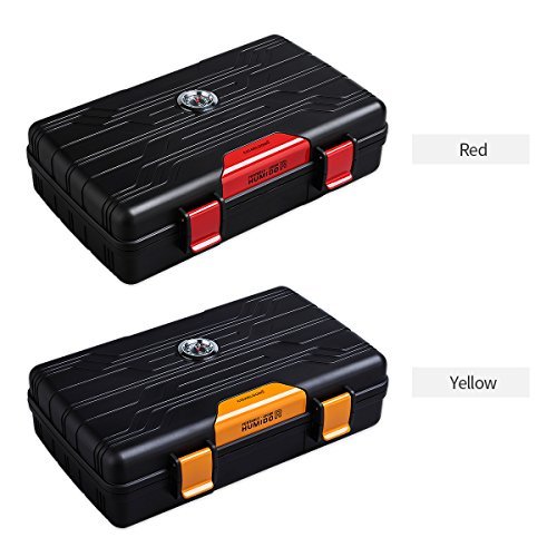 Cigar Travel Case Double Layer Accommodates 10 Cigars Portable Box(Color:Red) … by CIGARLOONG (Image #7)