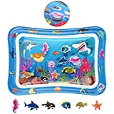 Tummy Time Baby Water Play Mat - Infant Inflatable Tummy Time Toy Play Mat Water Play Mat for 3 6 9 Months Newborn Babies Toddlers Girls and Boys