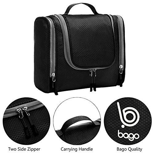 aeca662a5135 Bago Hanging Toiletry Bag For Men   Women - Toiletries Travel Organizer  (Black)