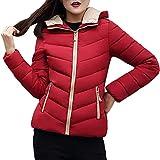 Coats For Women On Sale, Clearance!! Farjing Women Winter Sale Warm Coat Thick Warm Slim Jacket Overcoat(S,Wine)
