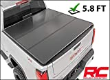 Rough Country Hard Tri-Fold Fits 2007-2013 [ Chevy ] Silverado [ GMC ] Sierra 5.8 FT Bed Truck Tonneau Cover 45207550