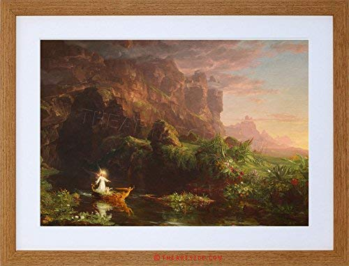 Painting Allegory Cole Voyage Life Childhood Framed Wall Art Print