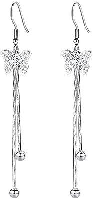 Fashion Long Drop Tassel Diamante Ear Earrings Women Crystal Dangle Jewelry Stud