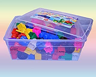 product image for Snapo Jr. Builder Set - 133 Piece Multi Color Junior Sized Blocks in Tote Box