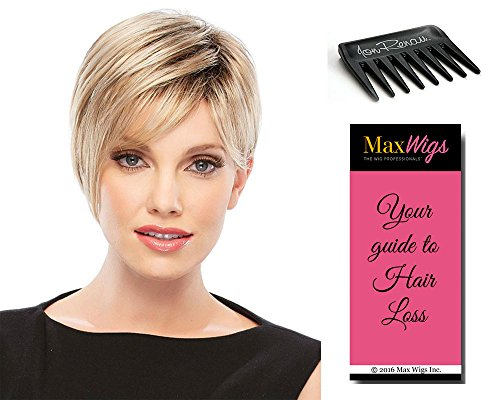 Natalie Wig (Natalie Average Cap Color 130/4 PAPRIKA - Jon Renau Wigs Women's Pixie Face Framing Short Modern Bob Synthetic Capless Bundle with Wig Comb, MaxWigs Hairloss Booklet)