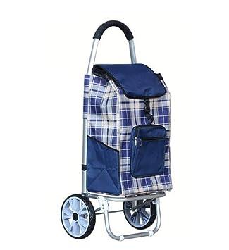 KOGK Carretilla de Compras de Gran Capacidad, Plegable Ligero Andador Multifuncional portátil Escalera Escalada Carrito utilitario Ideal para Ancianos,Blue: ...
